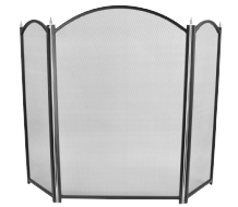 Dynasty PLUS 3 Fold Fireguard - Black & Pewter